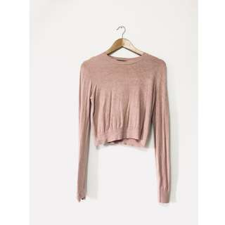 Bershka Mauve/Dusty Pink Pullover in Size M