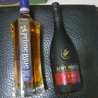 人頭馬vsop香檳&紳藍威士忌