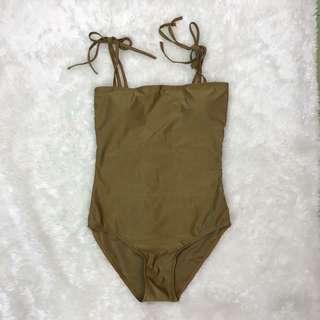Army Green / Mossy Green Tie Onepiece Bikini