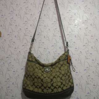 Authentic Coach sling bag brown