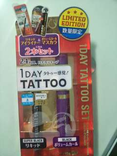 1 day tattoo eyeliner and mascara set