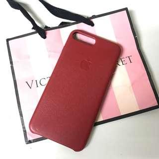 100% Apple Original iPhone 7P/ 8P Leather Case - Red