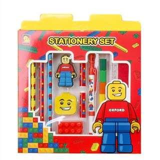 (Pre Order 21days) Building Block Stationery Set 拼装积木文具套装