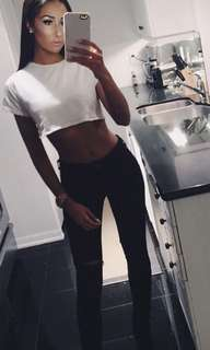 White crop top