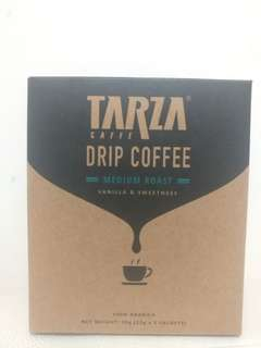 Tarza Drip Coffee, Medium Roast Vanilla & Sweetness, 100% Arabica 10g x 5 sachets, Expiry 2019.03.06