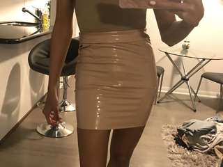 latex skirt nude oh polly