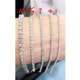 1ct - 10ct鑽石手鏈