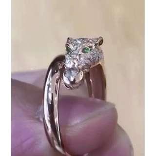 豪華鑲嵌款豹頭戒指(清貨價,只1隻)