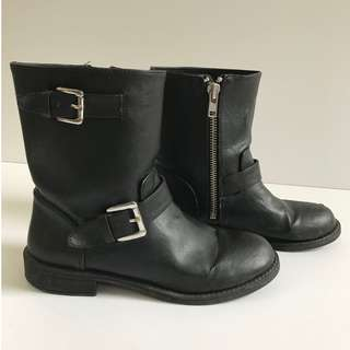 Motorcycle Boots; Black; Size: 8/8.5