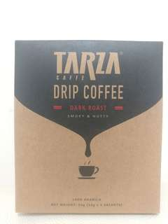 Tarza Drip Coffee, Dark Roast Smoky & Nutty, 100% Arabica 10g x 5 sachets, Expiry 2019.04.23