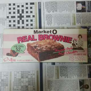 韓國 market o brownie 朱古力味 8個入
