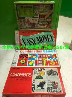 六七十年代 美國製遊戲$150/套