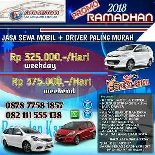 PROMO MURAH RENTAL/SEWA MOBIL + DRIVER ,JT AUTO RENTCAR