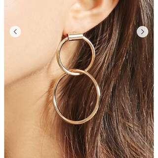 Dual Hoop Doorknocker Earrings