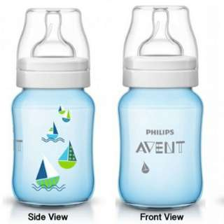 Avent Classic Plus Blue BOATS Bottle 9oz / 260ml (Single Pack)