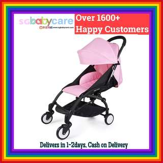 FREE DELIVERY Compact Cabin Recline Stroller - Pink