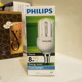 Philips 8W 飛利浦白光慳電膽