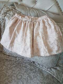Brand new rose gold girls skirt - size 5/6