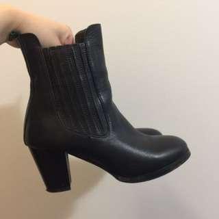 **SALE**handmade Calf Skin Leather Boots
