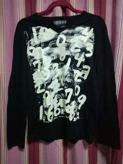 Unisex Black Glow-in-the-Dark V-neck Sweater