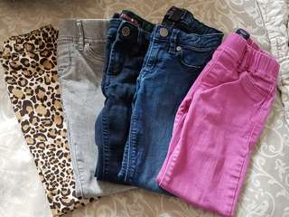 Girls assorted jeans - sizes 5-7