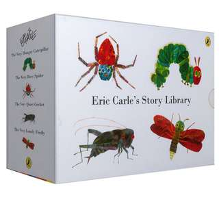 Eric Carle's Story Library Collection Gift Boxset 4 Books ( All Board Books and Brand New )