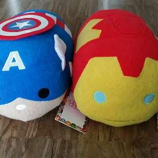 Disney Store Tsum Tsum (Marvel: Captain America & Ironman)