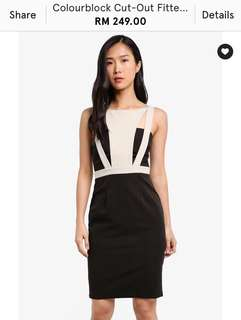 Kleeaisons Colourblock Cut Out Fitted Dress