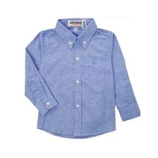 Anchor DENIM BLUE Unisex Long Sleeve Shirt