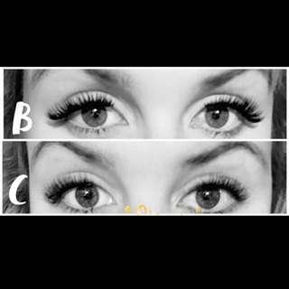 Cat eye whispy magnetic eyelash extensions
