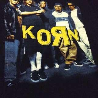 Vintage retro band T KORN T shirt