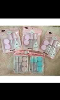 Set botol spray cream malam / set botol cosmetik pastel