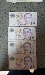 Sgd $2 with nice serial no.