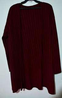 Cardigan (maroon)
