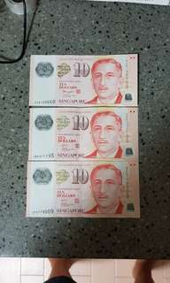SGD $10 WITH NICE SERIAL NO.