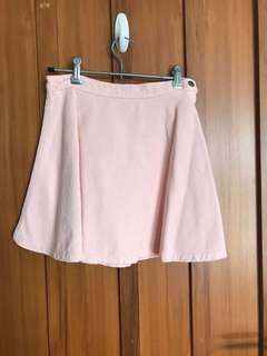 American Apparel pink corduroy skirt