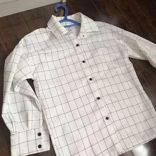 Grid Button Shirt