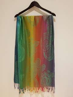 BRAND NEW - Beautiful Pashmina Rainbow Scarf