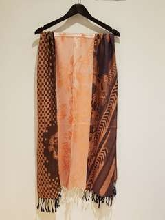 BRAND NEW - Beautiful Brown/Salmon Pashmina Scarf