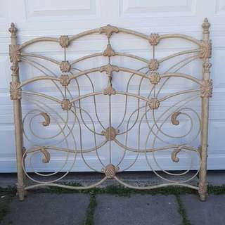 CAST IRON HEAD AND FOOT BOARD - USES MODERN BED FRAME