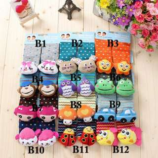 3D Rattle Socks Set B (Suitable For 6-18M)
