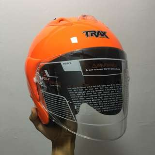 TRAX TR03ZR Luminous Orange Helmet