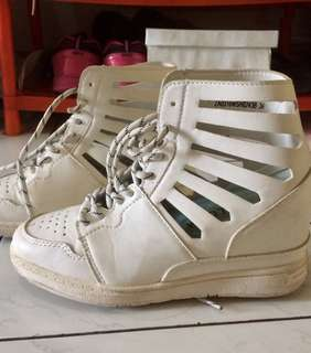 white sneakers wedges Zalora