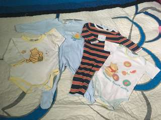 Combo baby sleepsuit, romper, jumper (3-6m)