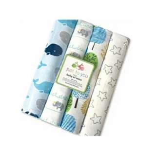 4 in 1 Cotton Baby Blanket (BIG) (Set 17)