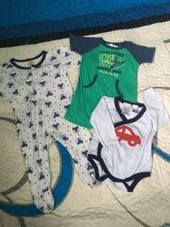 Combo sleepsuit, jumper, romper (3-6m)
