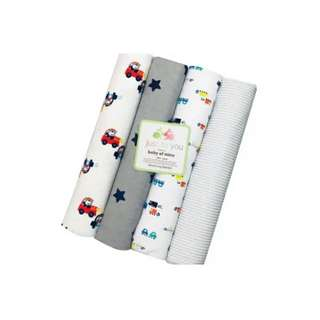 4 in 1 Cotton Baby Blanket (BIG) (Set 18)