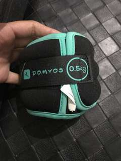 "Repriced!! ""Domyos"" 5kg wrist/ ankle weights (pair)"