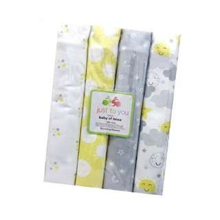 4 in 1 Cotton Baby Blanket (BIG) (Set 2)