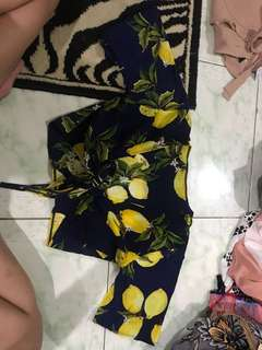 """REPRICED!! """"Dolce & Gabbana/ D&G"""" inspired Front tied crop top"""